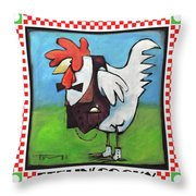 Feeling Cocky Poster Throw Pillow