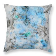 Feeling Deja Blue Throw Pillow