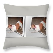 Feeling Frisky - Cross Your Eyes And Focus On The Middle Image Throw Pillow