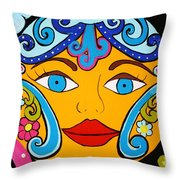 Feeling Groovy Throw Pillow