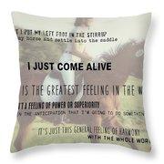 Feeling Harmony Quote Throw Pillow
