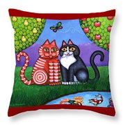 Feeling Koi Throw Pillow by Victoria De Almeida