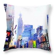 Feeling New York Throw Pillow