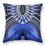 Feeling So Blue Throw Pillow