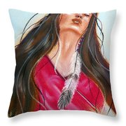 Feeling The Spirit Throw Pillow