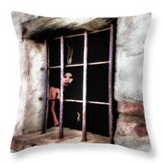 Feeling Trapped Throw Pillow