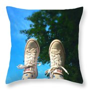 Feet Around The World #12 Throw Pillow