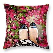 Feet Around The World #18 Throw Pillow