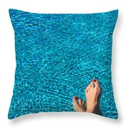 Feet Around The World #19 Throw Pillow