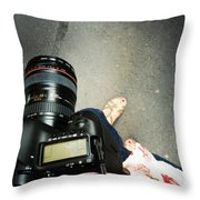 Feet Around The World #24 Throw Pillow