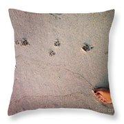 Feet Around The World #31 Throw Pillow