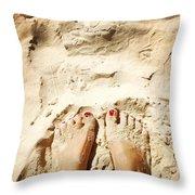 Feet Around The World #4 Throw Pillow