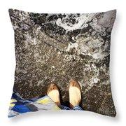 Feet Around The World #6 Throw Pillow