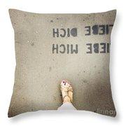 Feet Around The World #8 Throw Pillow