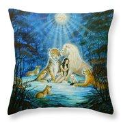 Feline Family... Love Throw Pillow