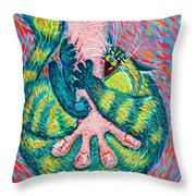 Feline Feedback Loop Throw Pillow