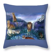 Feline Origins Throw Pillow