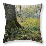 Fell Plants Throw Pillow