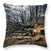 Felled After The Wildfire Throw Pillow