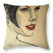 Felt Tip Female Throw Pillow