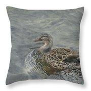 Female Duck Throw Pillow