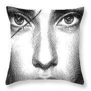 Female Expressions 936 Throw Pillow