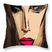 Female Expressions Xiv Throw Pillow