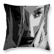 Female Expressions Xlv Throw Pillow