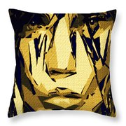 Female Expressions Xlvi Throw Pillow