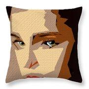 Female Expressions Xlviii Throw Pillow