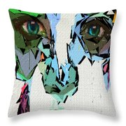 Female Expressions Xvii Throw Pillow