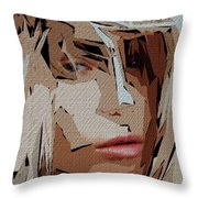Female Expressions Xx Throw Pillow