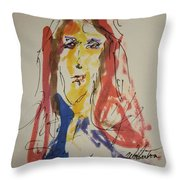 Female Face  Study  F Throw Pillow