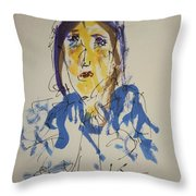 Female Face Study O Throw Pillow