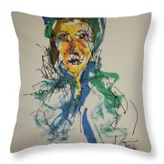 Female Face Study X Throw Pillow