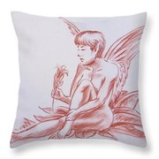 Female Fantasy 1 Throw Pillow