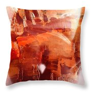 Female Landscape Throw Pillow