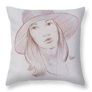 Female Model 24 Throw Pillow