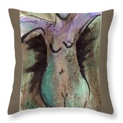 Female Nude Torso 1 Throw Pillow
