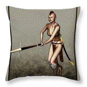 Female Pike Guard - Warrior Throw Pillow