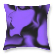 Female Space Face Throw Pillow