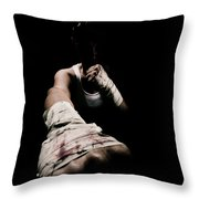 Female Toughness Throw Pillow