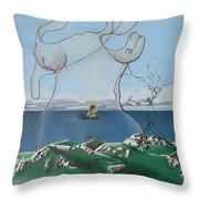 Feminine Landscape Throw Pillow