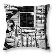 Feminine Stairwell Throw Pillow
