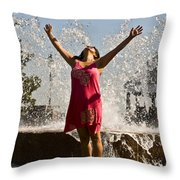 Femme Fountain Throw Pillow