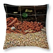 Fence And Chain Throw Pillow