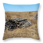 Fence Bails Throw Pillow