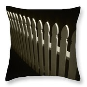 Fence Bw Throw Pillow