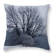 Fence Hills  Throw Pillow