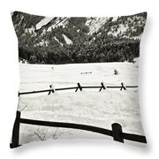 Fence Lines And Flatirons Throw Pillow